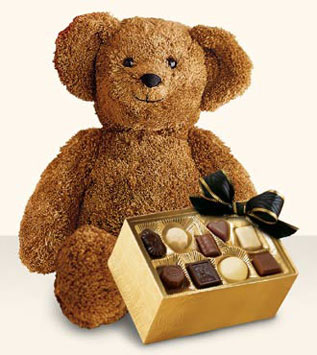 Large Bear with Boxed Chocolates
